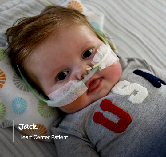 heart center patient, baby jack