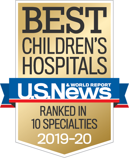 Best Children's Hospital US News banner