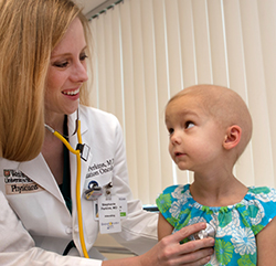 Dr. Stephanie Perkins with a patient
