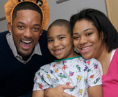 Will Smith visits the hospital