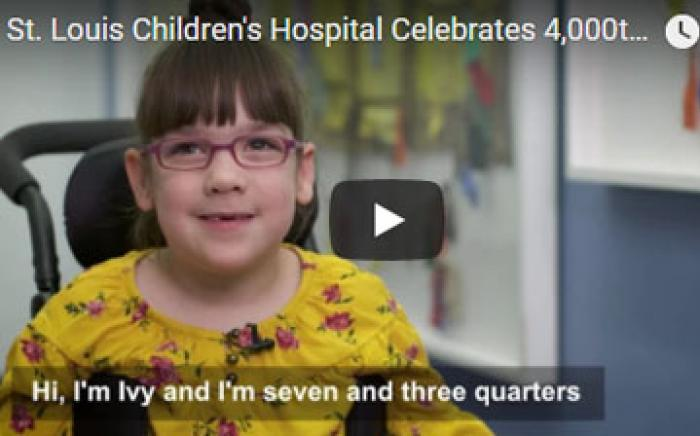St. Louis Children's Hospital Celebrates 4,000th SDR Surgery / Ivy's Steps